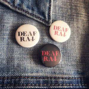 Deaf Rat jacket pins official merchandise